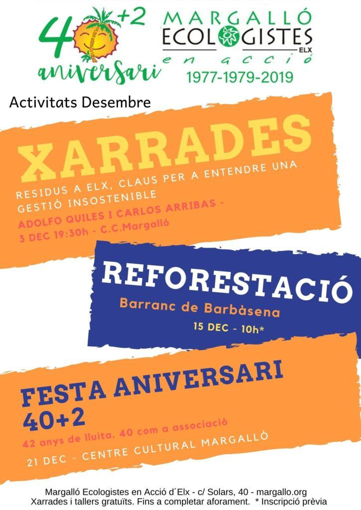 Cartell d'activitats per al mes de desembre